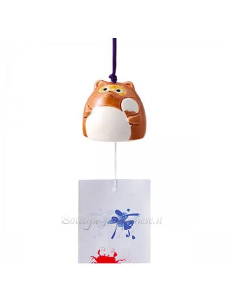 Fuurin campana forma di tanuki