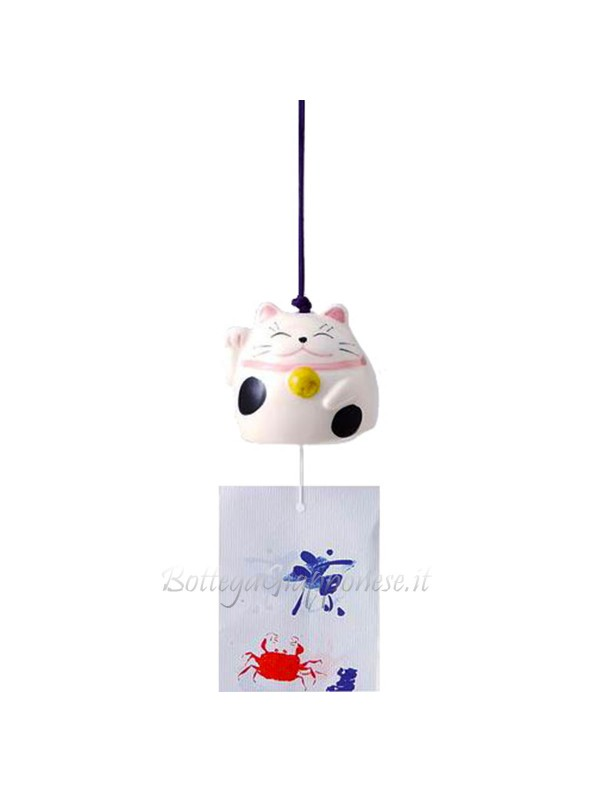 Fuurin maneki neko campanella forma di gattino