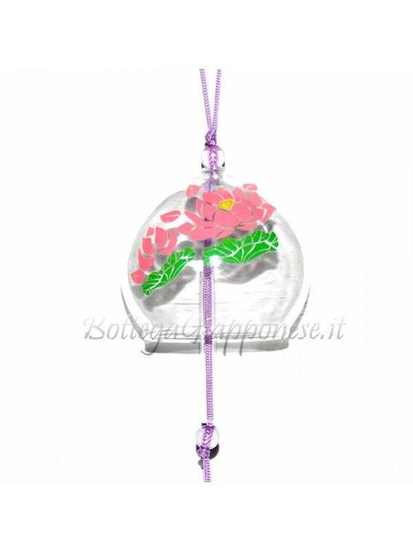 Fuurin vetro campanella fiori di loto hasu