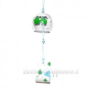 Fuurin vetro campanella ranocchi con ombrello bianco