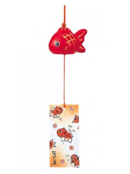 Fuurin campana forma pesce rosso