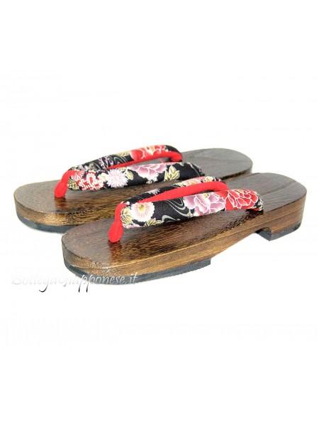 Geta Sandali legno infradito (mis. M) Eriko