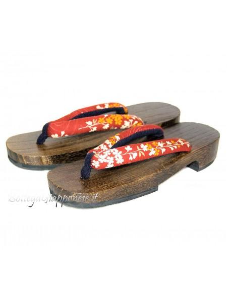 Geta Sandali legno infradito (mis. M) Fujiko
