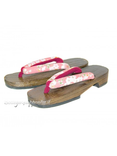 Geta Sandali infradito disegno sakura (mis. M) Pink