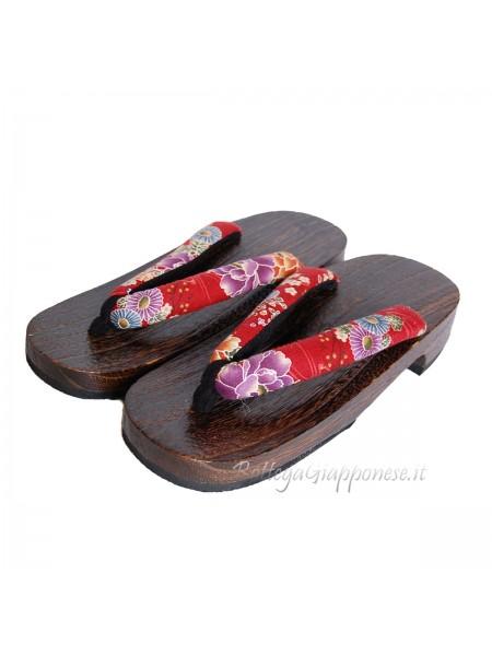Geta Sandali kimono legno (mis. L)