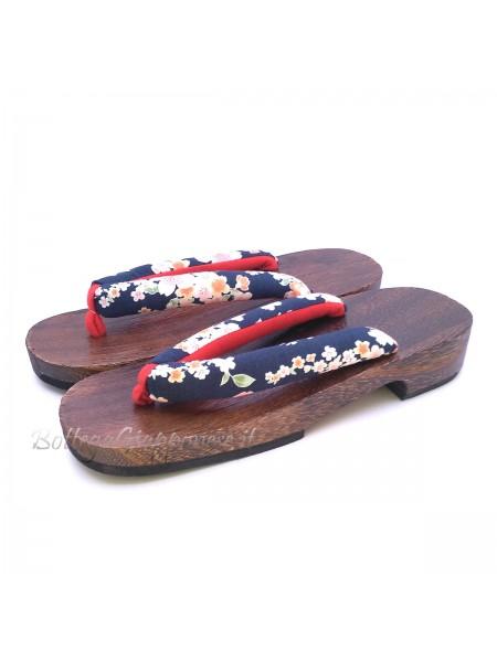 Geta Sandali Sakura-shiro legno (mis. L)
