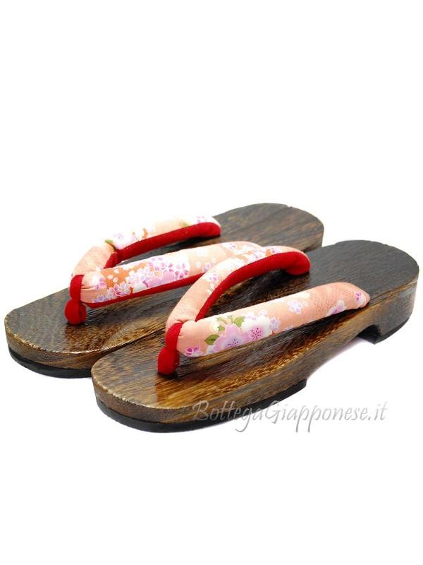Geta Sandali in legno sakura-pink (mis. L)