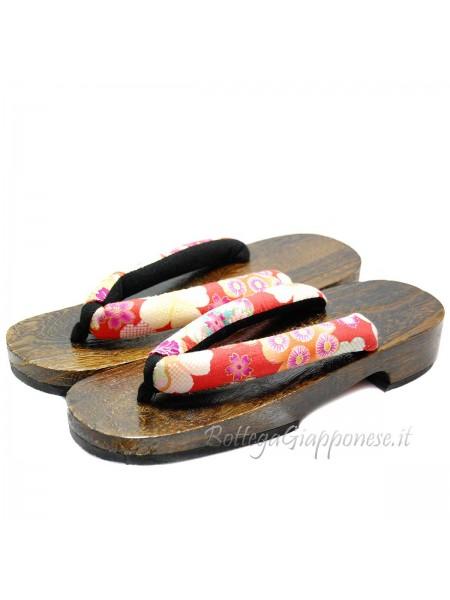 Geta Sandali in legno con fiori (mis. M) Yumi