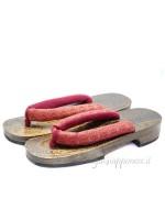 Geta Sandali in legno hanao rosso (mis. L)