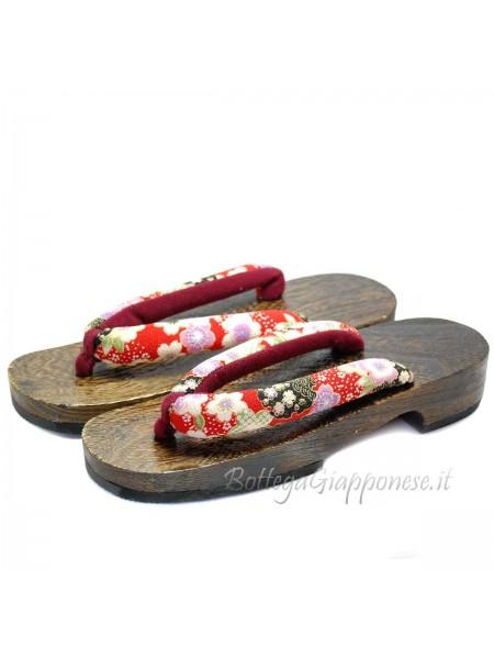 Geta Sandali in legno hanao kimono (mis. L)