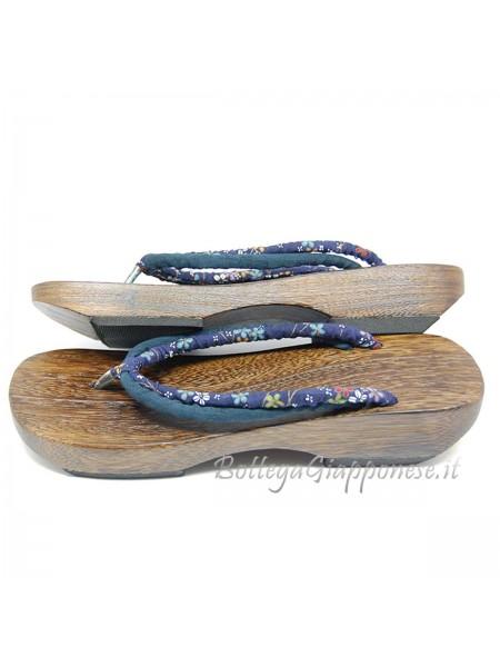 Geta Sandali in legno e hanao doppio (mis. M) navy