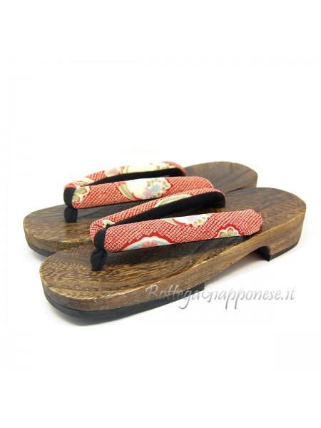 Geta Sandali legno hanao shibori (mis. L)