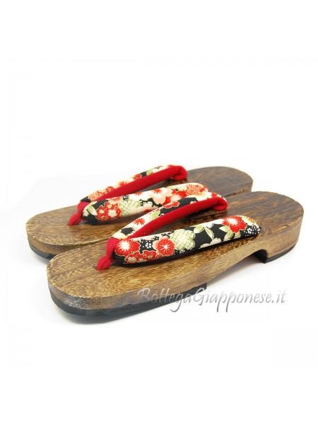 Geta Sandali legno hanao kimono (mis. L)