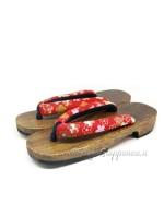 Geta Sandali legno hanao sakura-rosso (mis. L)