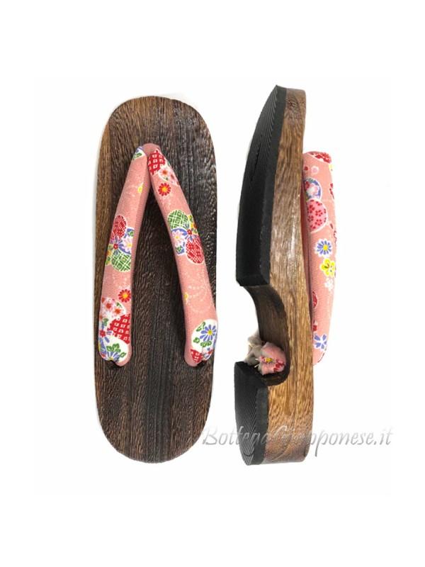 Geta Sandali legno infradito rosa (mis. L)