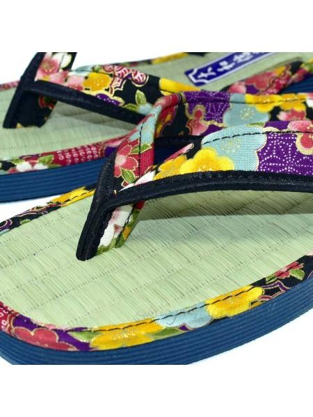 Zori infradito sandali naturali giapponesi nero