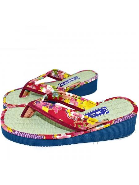 Zori infradito sandali naturali giapponesi rosso
