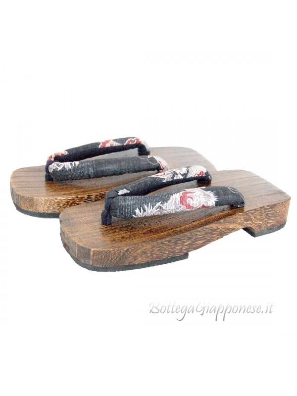Geta sandali in legno infradito dragone