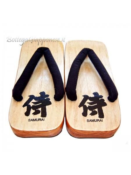 Geta infradito in legno Samurai