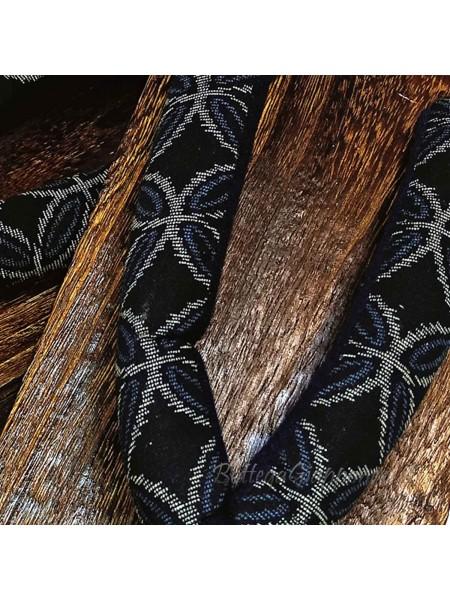 Geta sandali in legno infradito nero