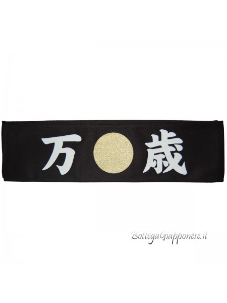 Hachimaki bandana nera Banzai