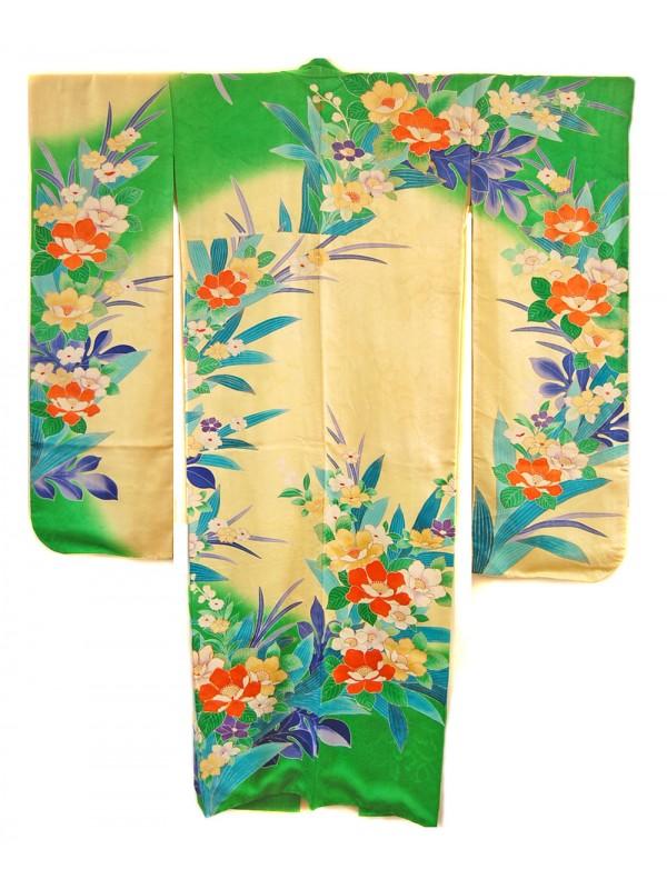 Furisode (midori) kimono giapponese