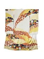Furisode kimono seta kiku