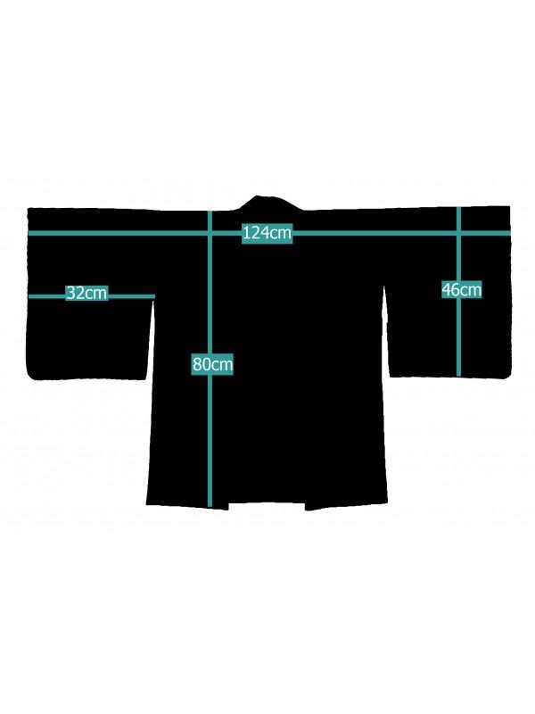 Haori giacca kimono in seta kamon