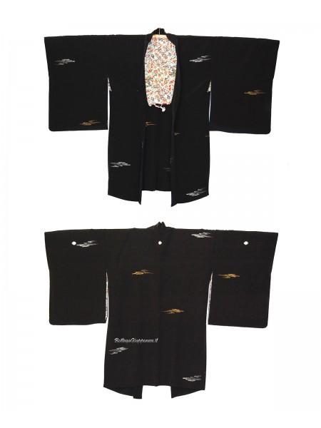 Haori giacca kimono in seta nubi d'oro