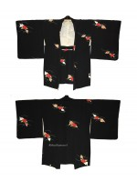 Haori giacca kimono in seta fiori yuzen