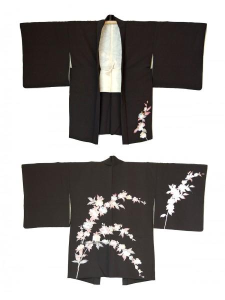 Haori giacca kimono grande ramo fiorito