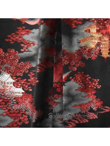 Michiyuki giacca kimono castello pagoda