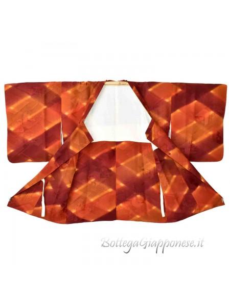 Michiyuki giacca kimono colore sfumato