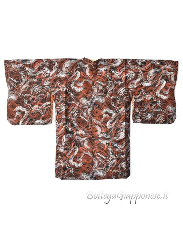 Michiyuki giacca kimono linee ondulate