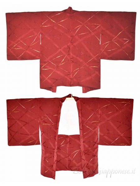 Haori giacca kimono seta colore argilla