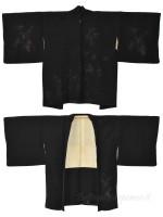 Haori giacca kimono seta nero edera