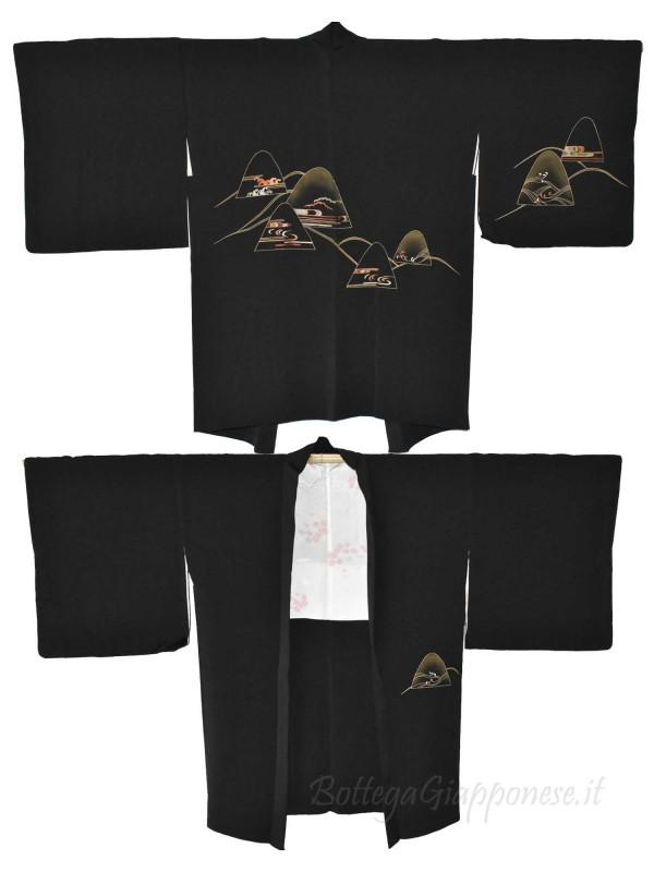 Haori giacca kimono seta colline