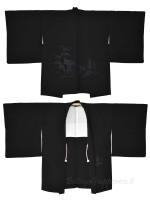Haori giacca kimono seta nero panorama