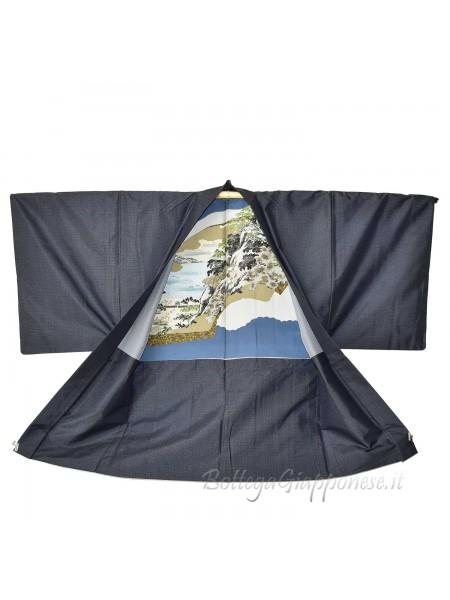 Haori giacca uomo kimono seta panorama