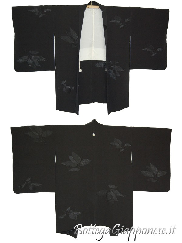 Haori giacca kimono in seta happa montsuki
