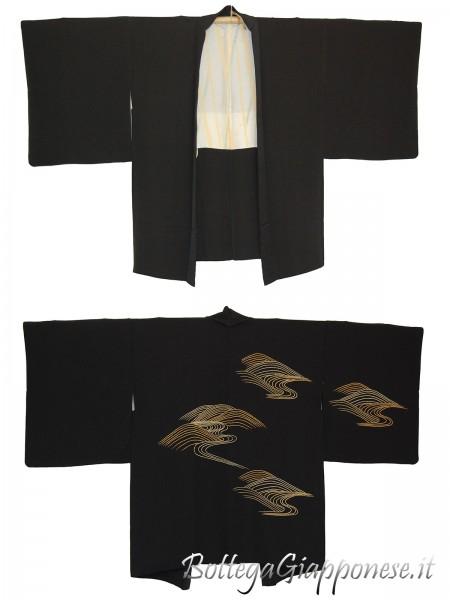 Haori giacca kimono in seta yamakawa