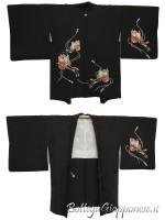 Haori giacca kimono in seta carro yuzen