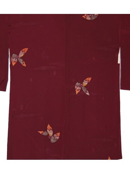 Haori giacca kimono in seta vinaccia