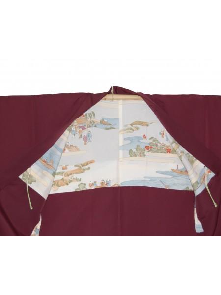 Haori giacca kimono in seta foglie
