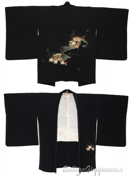 Haori giacca kimono in seta Tamatebako