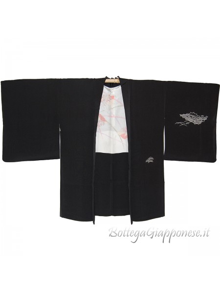 Haori giacca kimono in seta Matsu paesaggio