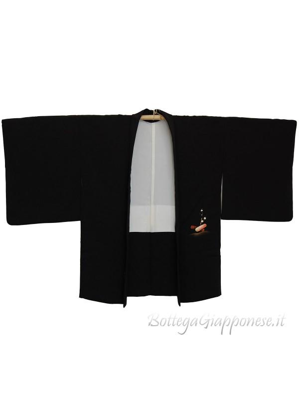 Haori giacca kimono in seta Ume Tsubo