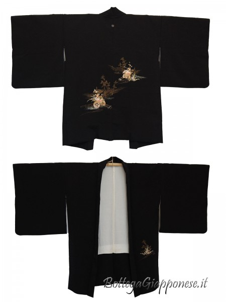 Haori giacca kimono in seta Hanaguruma
