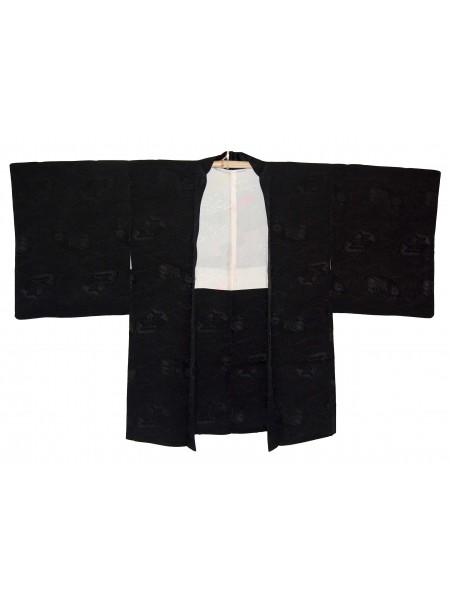 Haori giacca kimono in seta onde damascate
