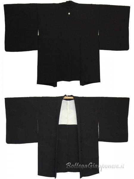 Haori giacca kimono in seta sensu matsu
